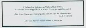 in memoriam Walburg Maric-Oehler