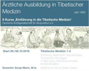 Ärztliche Ausbildung in Tibetischer Medizin - 'Einführung in Tibetische Medizin' 2016